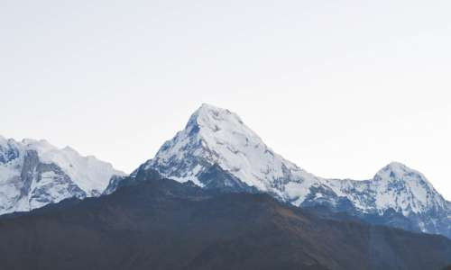 View of Himalayas from Poon Hill, Annapurna Region, Nepal.