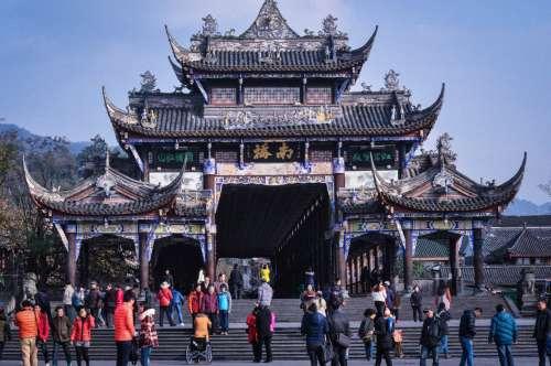 Dujiangyan Gate, Sichuan, China.