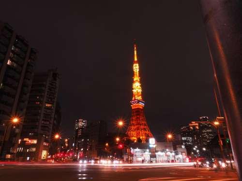 Tokyo Tower,Akabanebashi Eki 赤羽橋駅, Japan