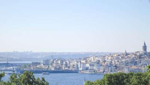 View of the Bosphorus, Istanbul, Turkey.