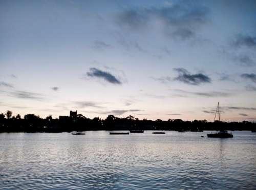 Sunset in Geelong, Australia.