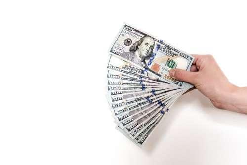 Holding Hundred Dollar Bills Photo