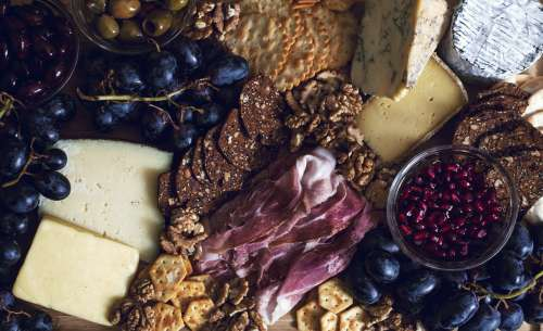A Platter Of Meats And Cheeses Fit For Royalty Photo