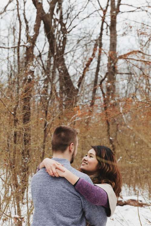 A Romantic Comedy Hug Photo