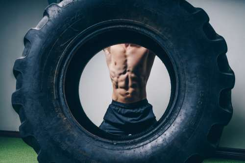 Abs Workout Tire Photo