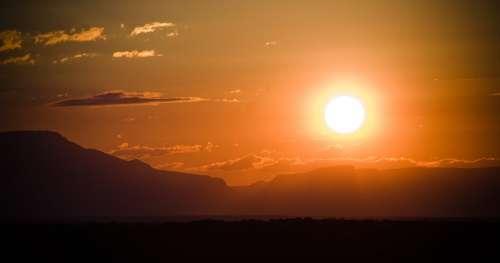 African Safari Sunset Photo