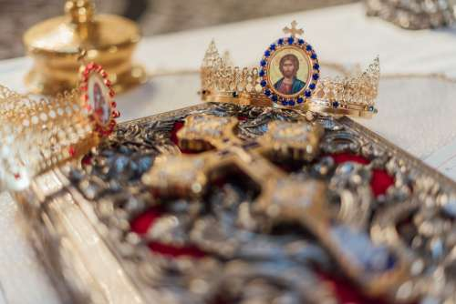 Antique Cross And Crown Photo