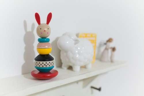 Babys Toys On Shelf Photo