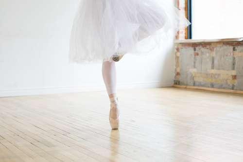 Ballerina On One Toe Photo
