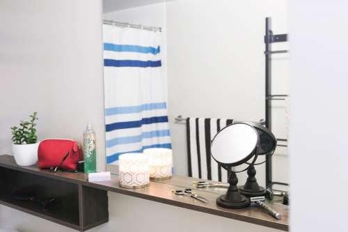 Bathroom Shelving Mirror Photo