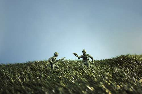 Battling Toy Soldiers Photo