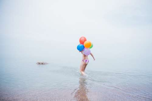Beach Party Balloons Photo
