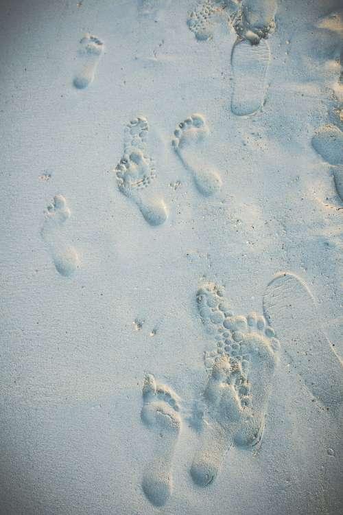 Beach Sand Footprints Photo