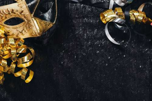 Black And Gold Carnival Mask Photo
