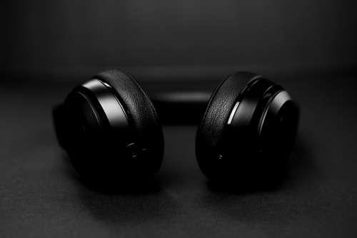 Black And White Black Headphones Photo