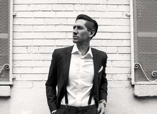 Black And White Image Of Mens Formal Fashion Photo