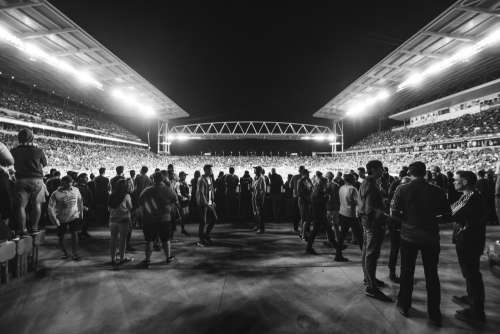 Black And White Stadium Photo