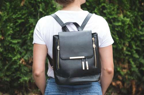 Black Gold Fashion Backpack Photo