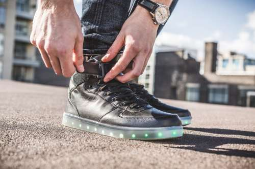 Black Hightop LED Shoes Photo