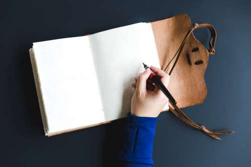Blank Pages In Creative Notebook Photo