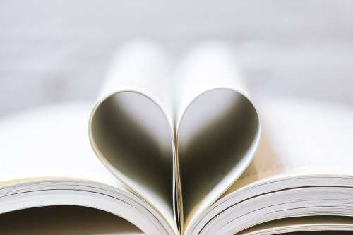 Book Pages As A Heart Photo
