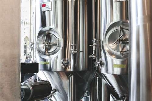 Brewery Beer Tanks Photo