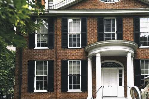 Brick Home With Columns Photo