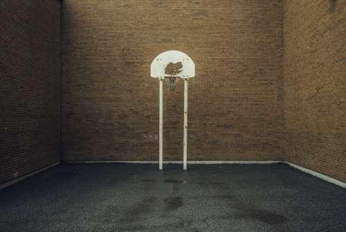 Brick Urban Basketball Court Photo