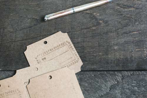 Brown Package Labels Photo