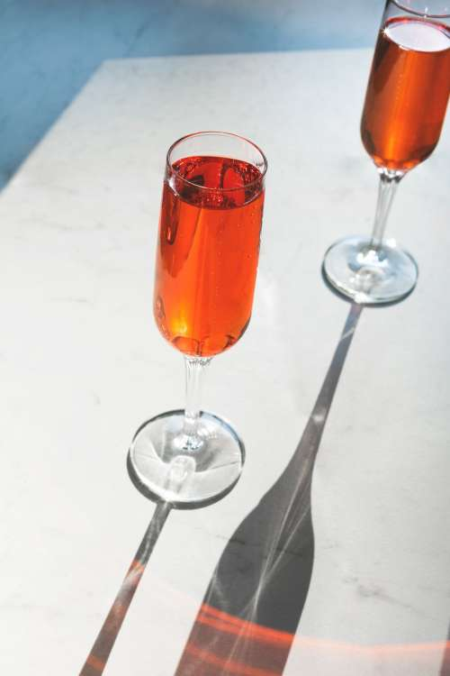 Bubbly Champagne Cocktail Photo