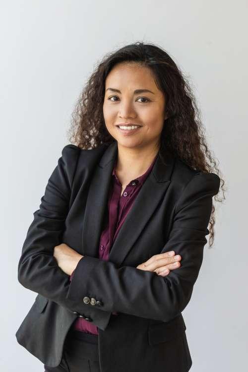 Business Woman Vertical Crop Portrait Photo
