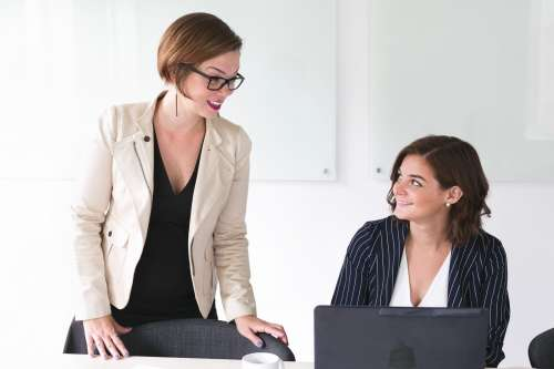 Business Women Talking Photo