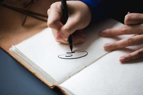 Calligraphy Hand Lettering Photo