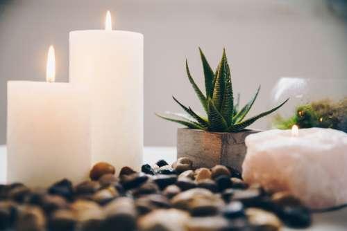 Candles And Bathroom Decor Photo