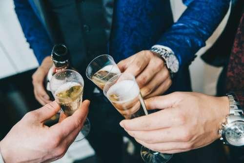 Champagne Cheers And Luxury Photo
