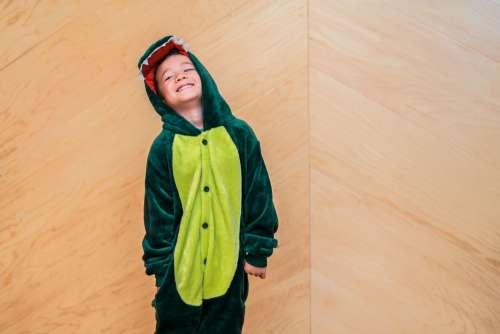Child Dinosaur Outift Photo
