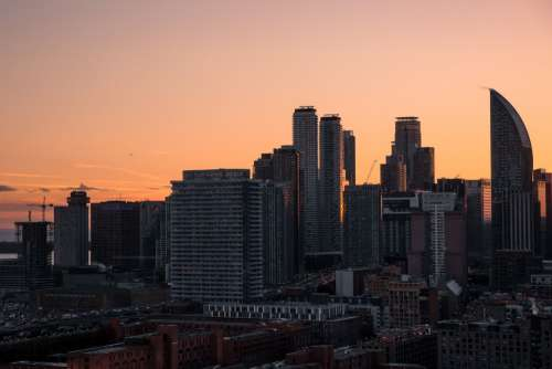 City At Sunset Photo