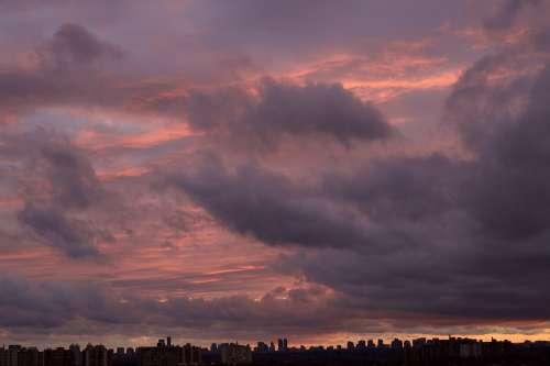 City Sky Sunset Photo