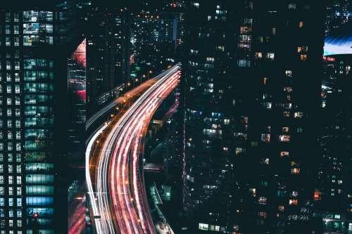 City Traffic Night Photo