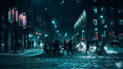 City Winter Street Photo
