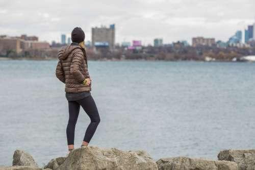 City Woman Exercising Outdoors Photo