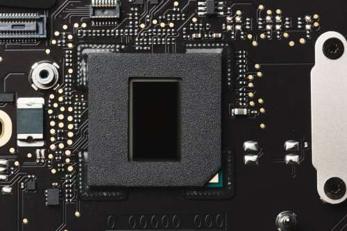 Close Up Of Motherboard Photo