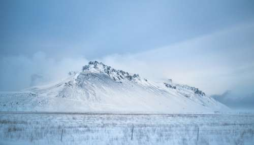 Cloudy Winter Iceland Photo