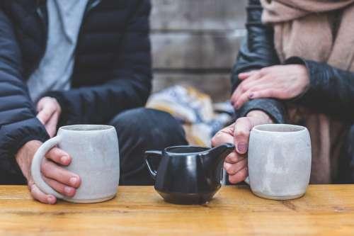 Coffee Date Couple Photo