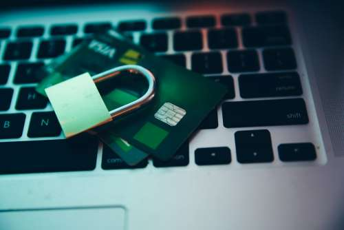 Computer Security Lock And Payment Photo