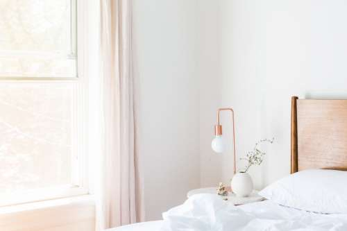 Copper Light In Bedroom Photo