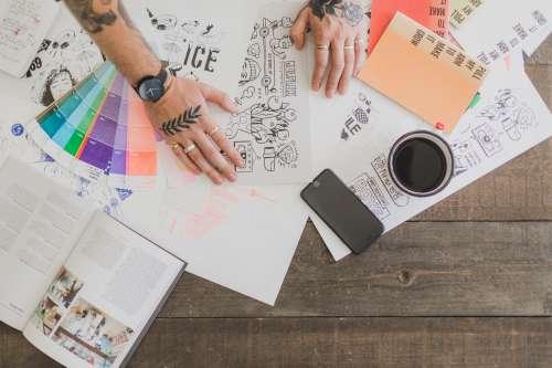 Creative Designers Desk Photo