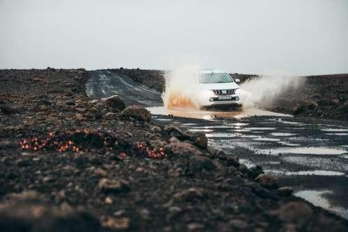 Driving Through Puddles & Splashing Photo
