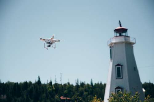 Drone & Lighthouse Photo