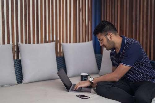 Entrepreneur At Work Remotely Photo